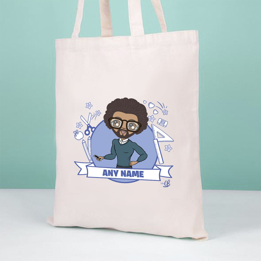MrCB Teacher Icons Canvas Bag - Image 1