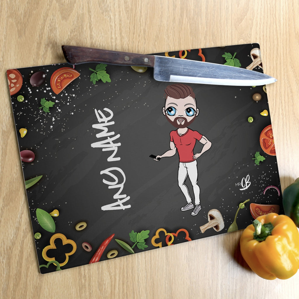 MrCB Landscape Glass Chopping Board - Foodie Fun - Image 1