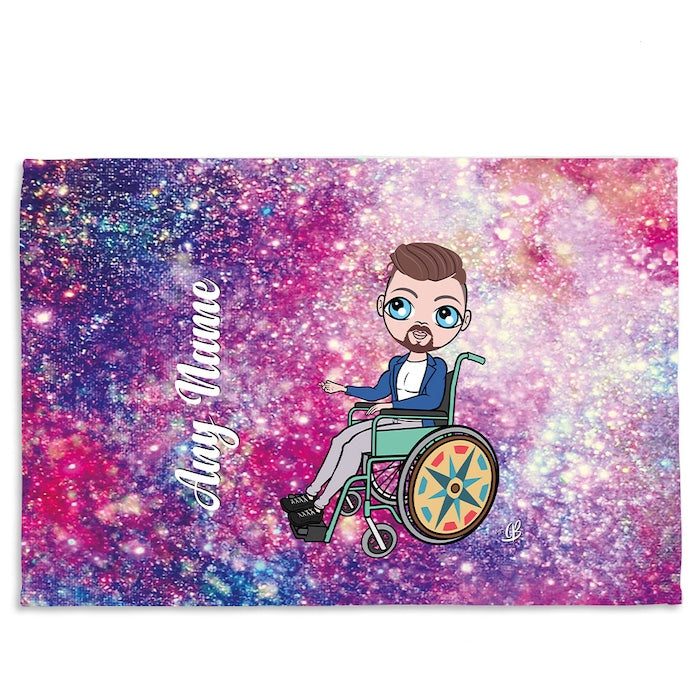 MrCB Galaxy Glitter Wheelchair Fleece Blanket - Image 3