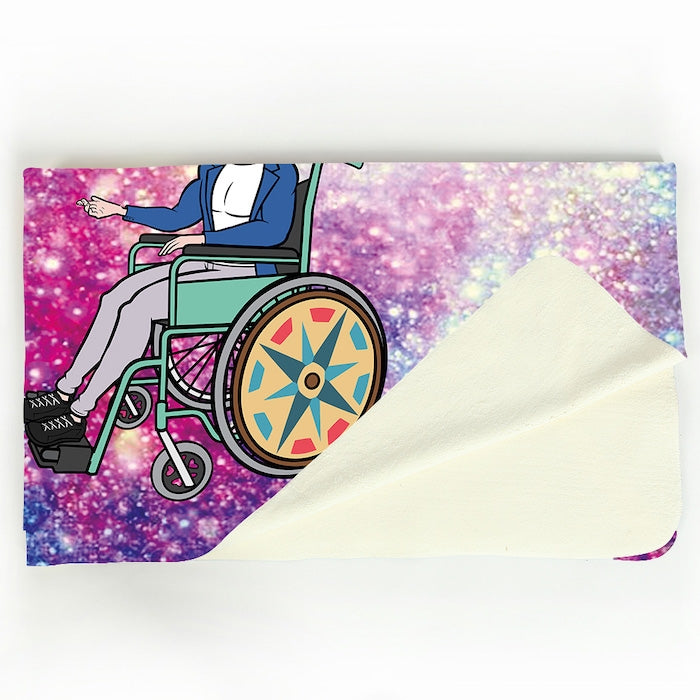 MrCB Galaxy Glitter Wheelchair Fleece Blanket - Image 2