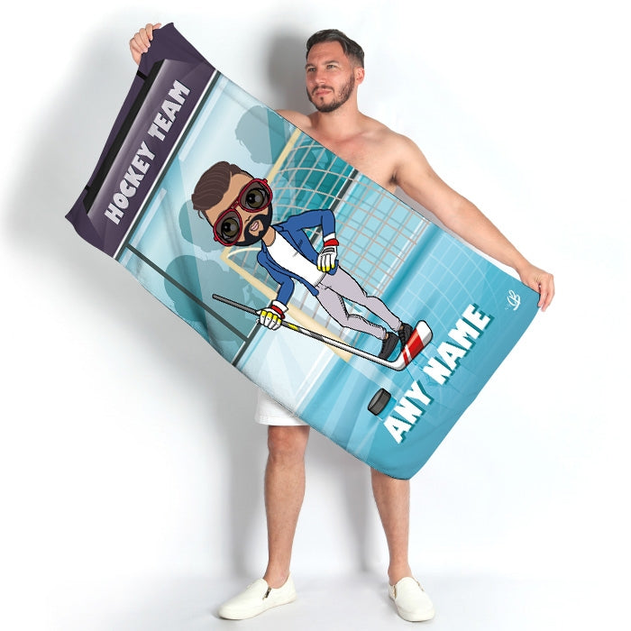 MrCB Ice Hockey Beach Towel - Image 1