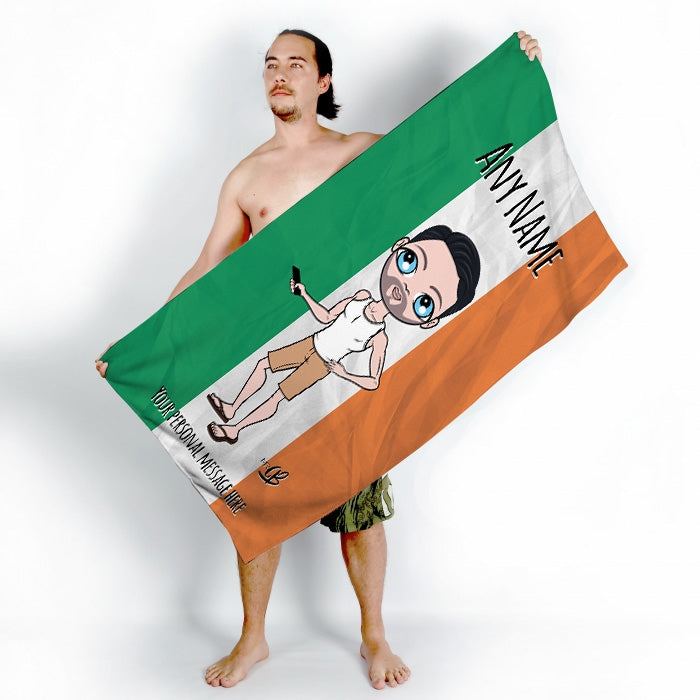 MrCB Irish Flag Beach Towel - Image 1