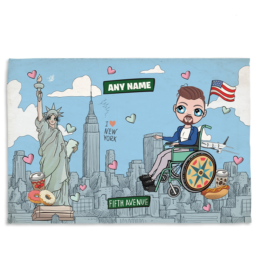 MrCB Love NY Wheelchair Fleece Blanket - Image 1