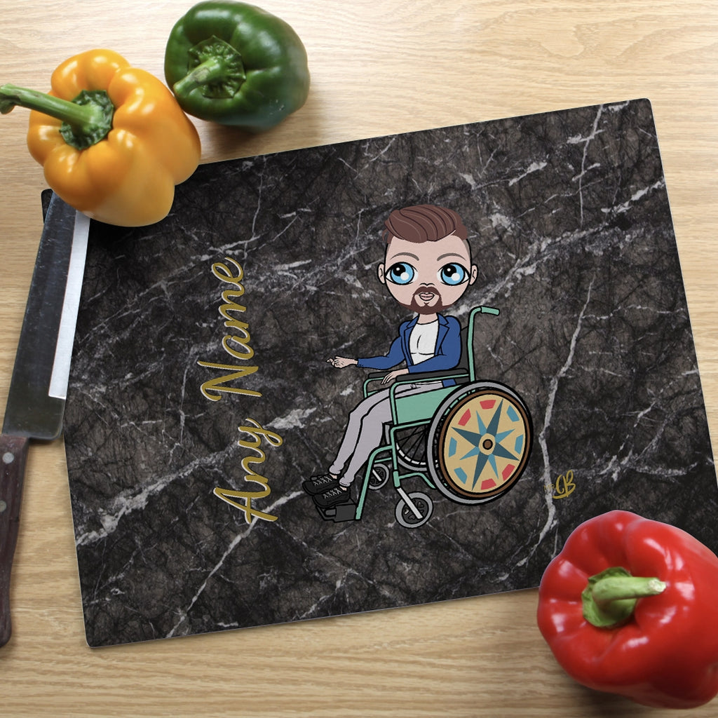 MrCB Wheelchair Glass Chopping Board - Marble Effect - Image 4