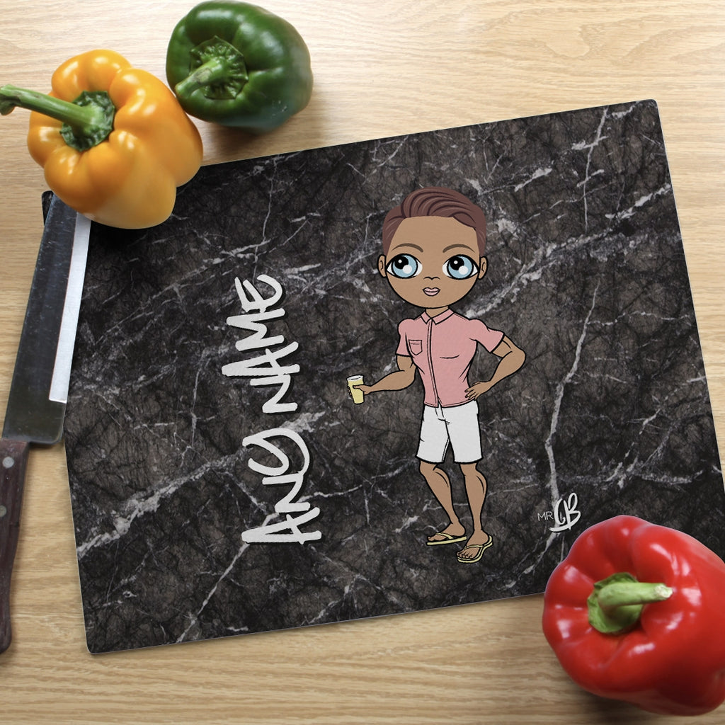 MrCB Landscape Glass Chopping Board - Marble Effect - Image 1