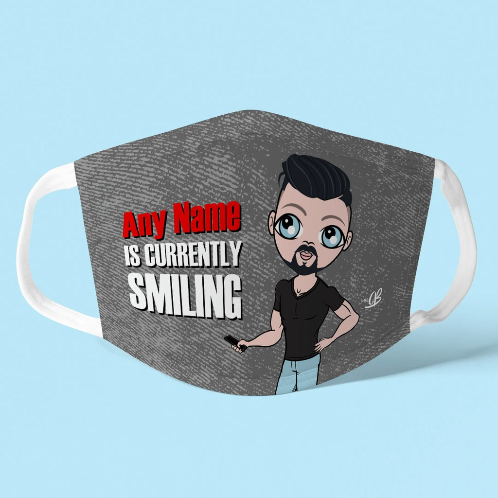 MrCB Personalised Smile Reusable Face Covering - Image 1