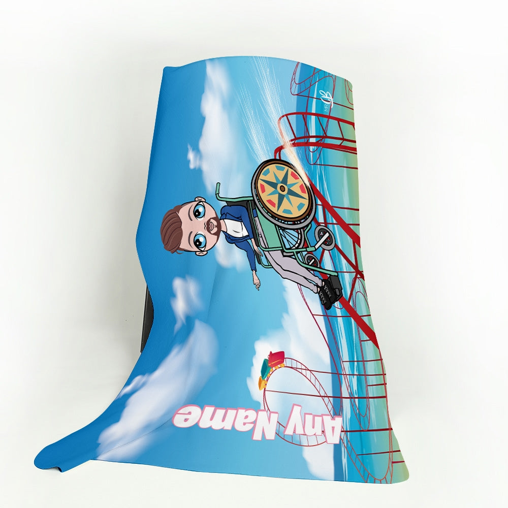MrCB Thrill Seeker Wheelchair Fleece Blanket - Image 1