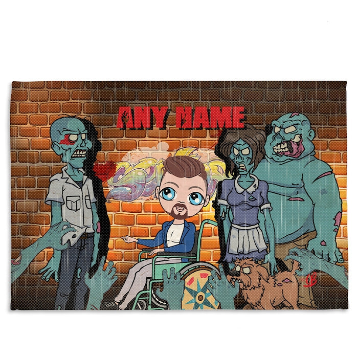 MrCB Zombie Wheelchair Fleece Blanket - Image 1