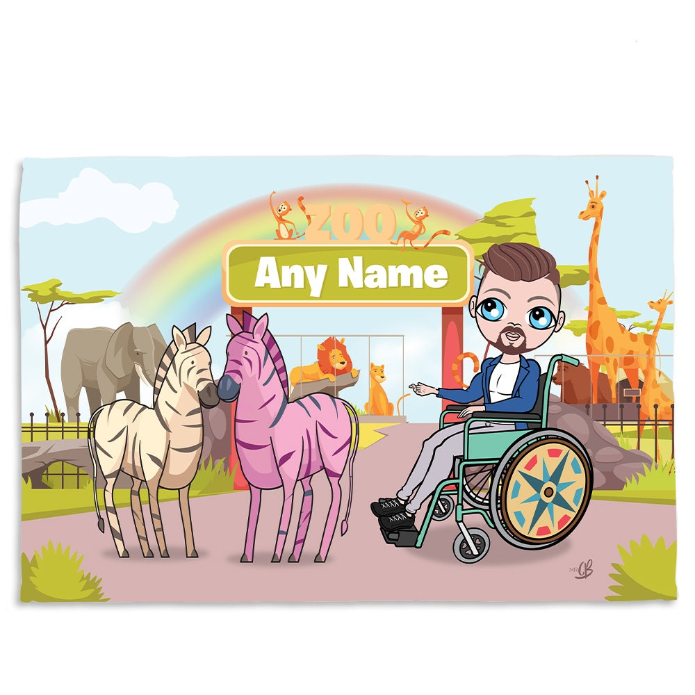 MrCB Zoo Wheelchair Fleece Blanket - Image 1