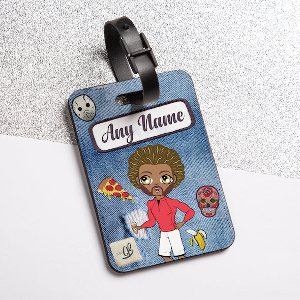 MrCB Denim Effect Luggage Tag - Image 1