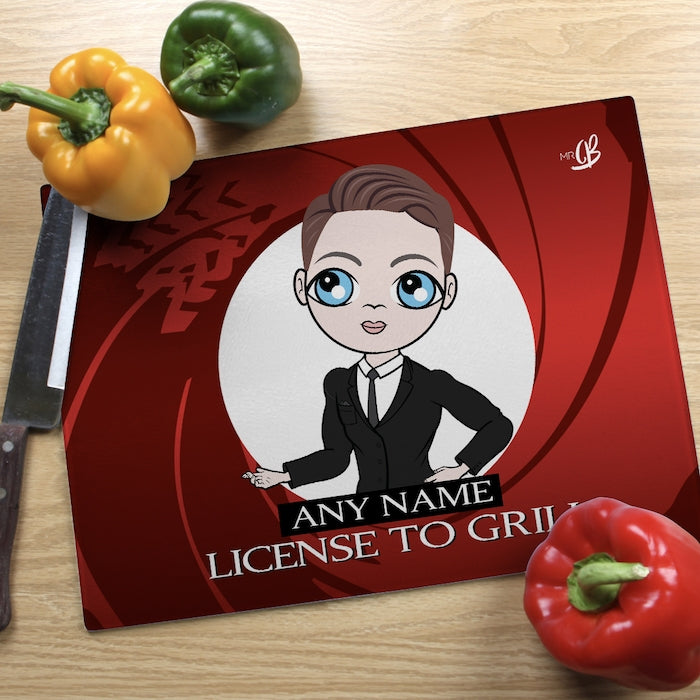 MrCB Landscape Glass Chopping Board - License To Grill - Image 2
