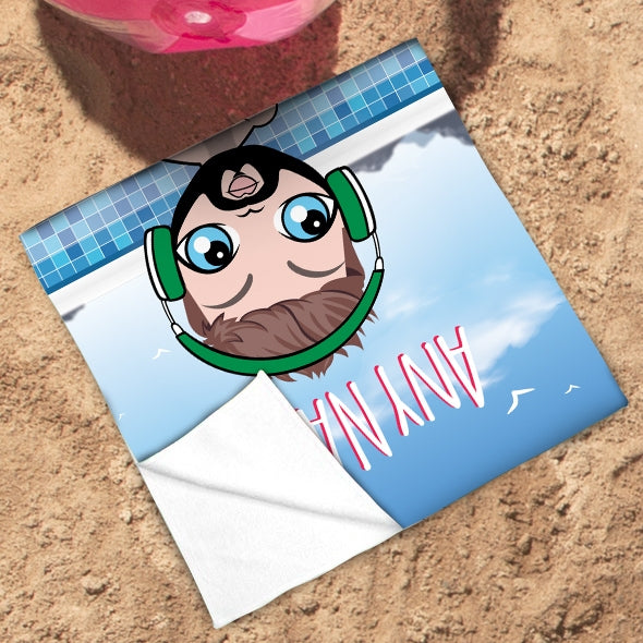 MrCB Pool Party Beach Towel - Image 2
