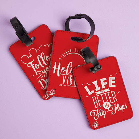 MrCB Red Luggage Tag - Image 3
