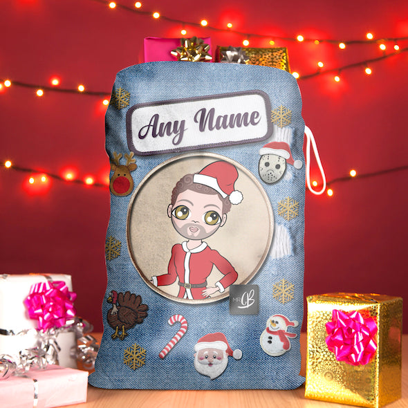 MrCB Denim Effect Christmas Sack - Image 1
