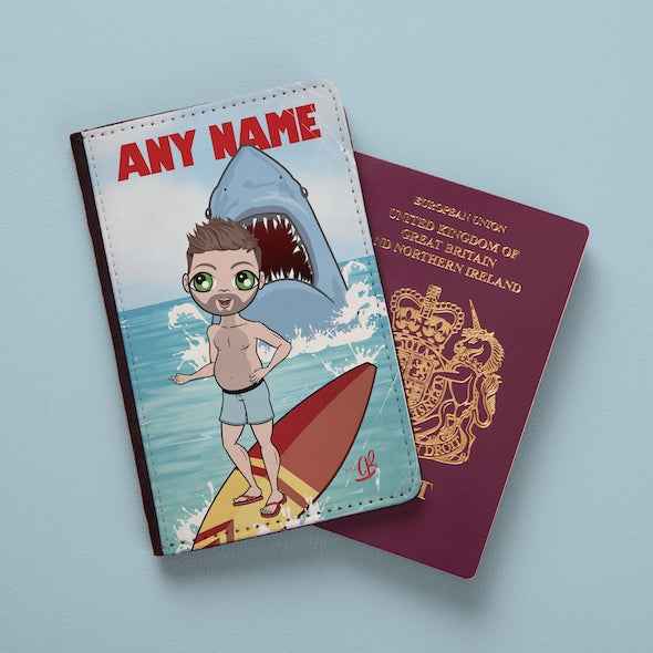 MrCB Retro Shark Attack Passport Cover - Image 1