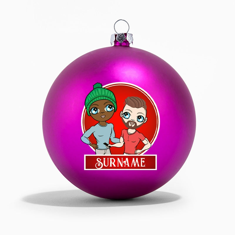 MrCB and Him Personalised Shatterproof Bauble - Image 4