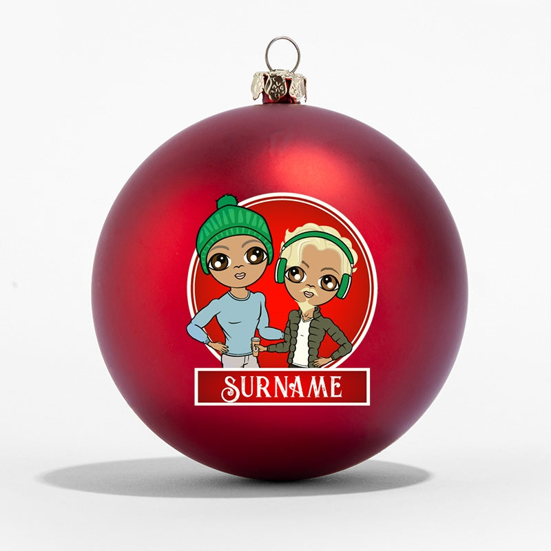 MrCB and Him Personalised Shatterproof Bauble - Image 1