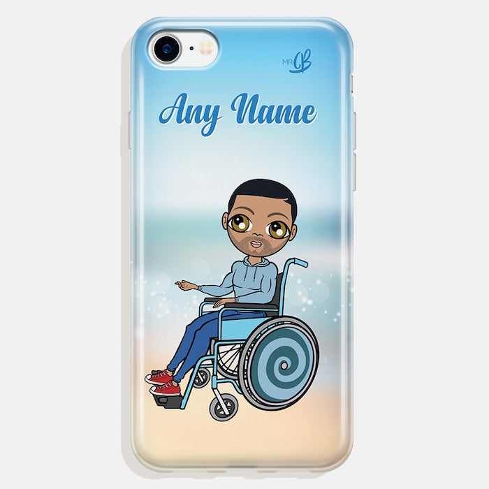MrCB Wheelchair Personalised Beach Colours Phone Case - Image 1