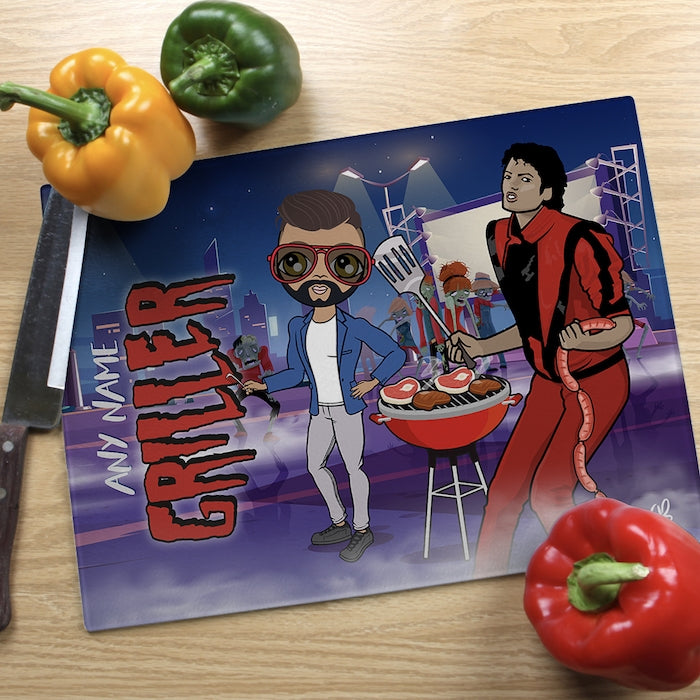 MrCB Glass Chopping Board - Griller - Image 1