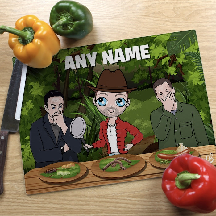 MrCB Glass Chopping Board - Jungle Food Trial - Image 1