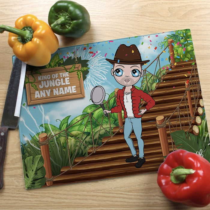 MrCB Glass Chopping Board - King Of The Jungle - Image 1