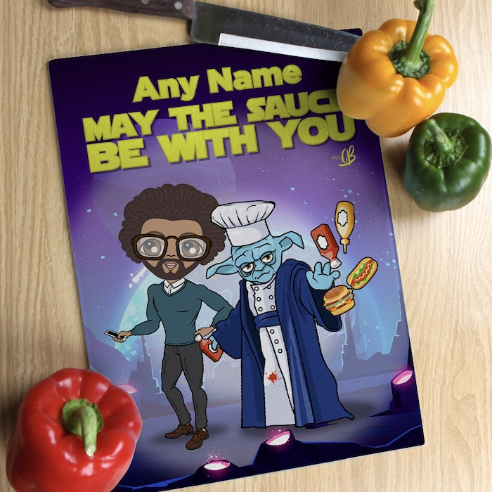 MrCB Glass Chopping Board - May The Sauce - Image 2