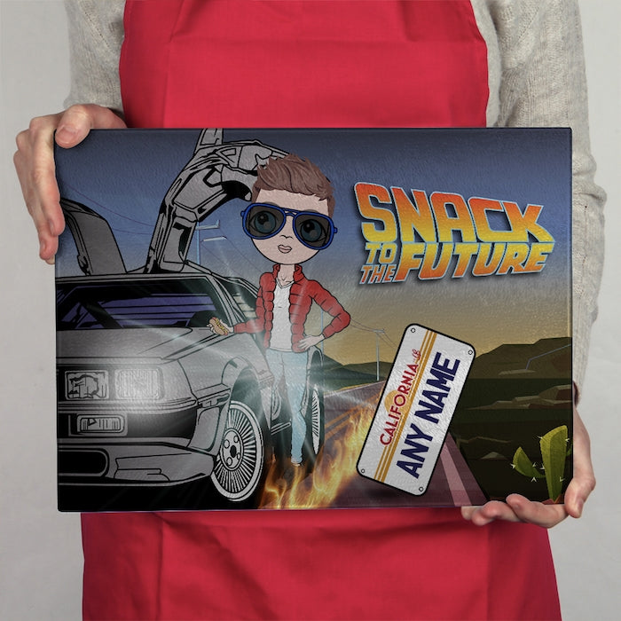 MrCB Glass Chopping Board - Snack To The Future - Image 2