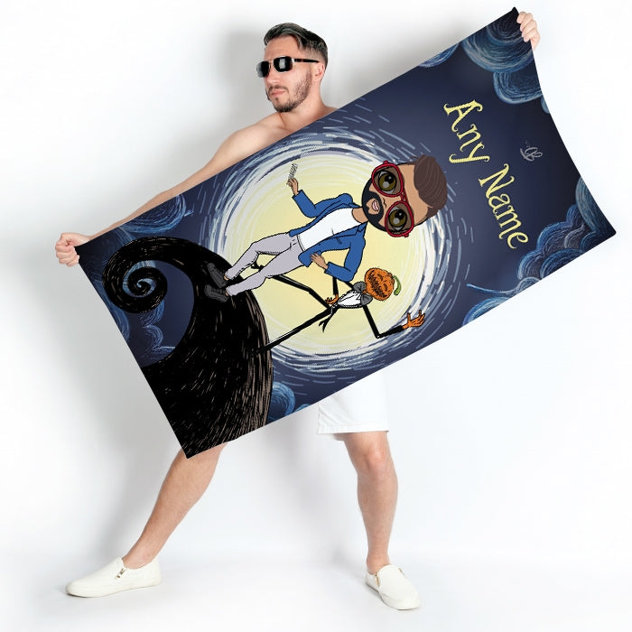 MrCB Halloween Nightmare Beach Towel - Image 1