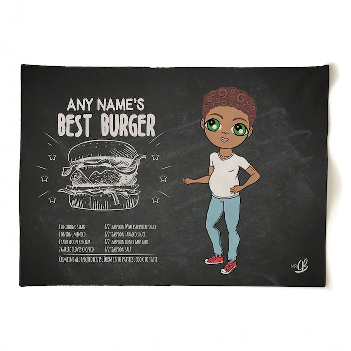MrCB Personalised Best Burger Recipe Tea Towel - Image 3