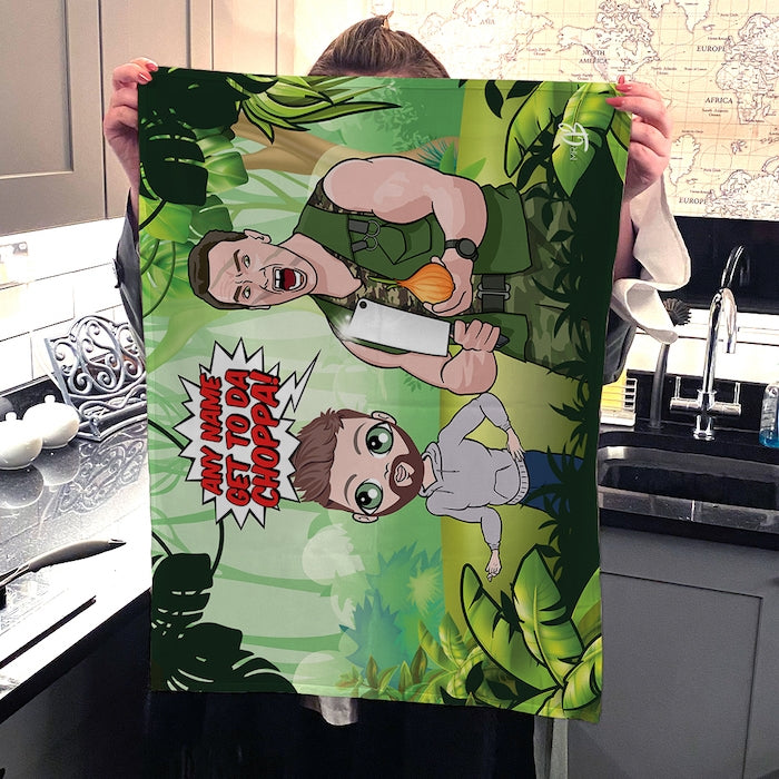 MrCB Personalised Get To Da Choppa Tea Towel - Image 2