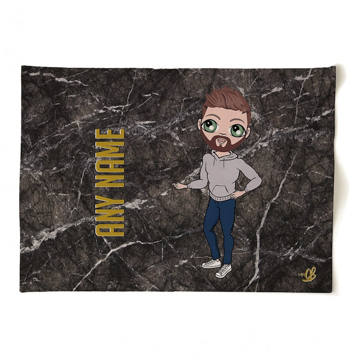 MrCB Personalised Marble Tea Towel - Image 1