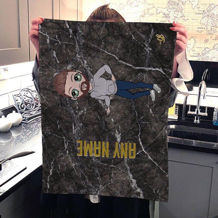 MrCB Personalised Marble Tea Towel - Image 4