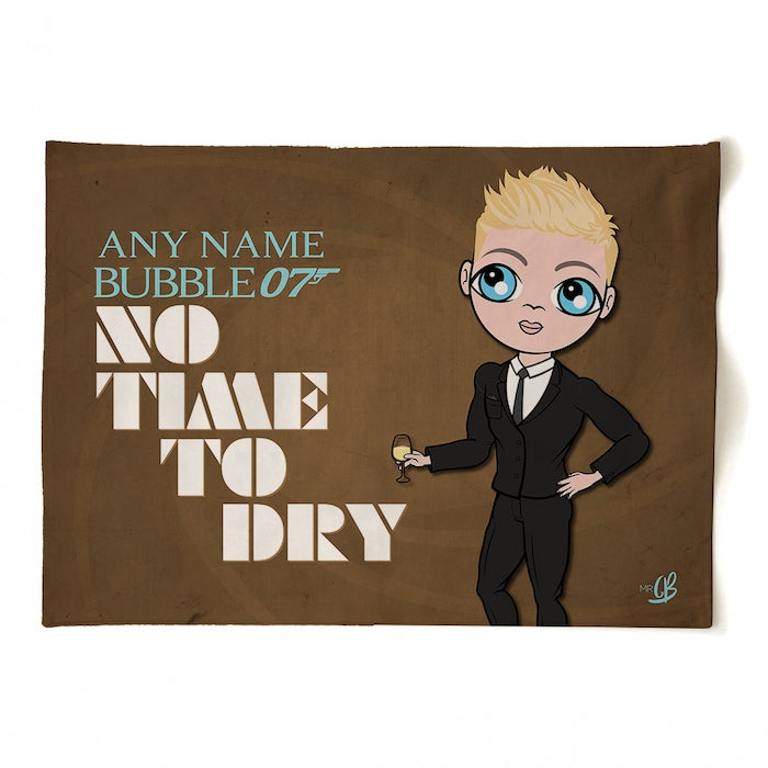 MrCB Personalised No Time To Dry Tea Towel - Image 1