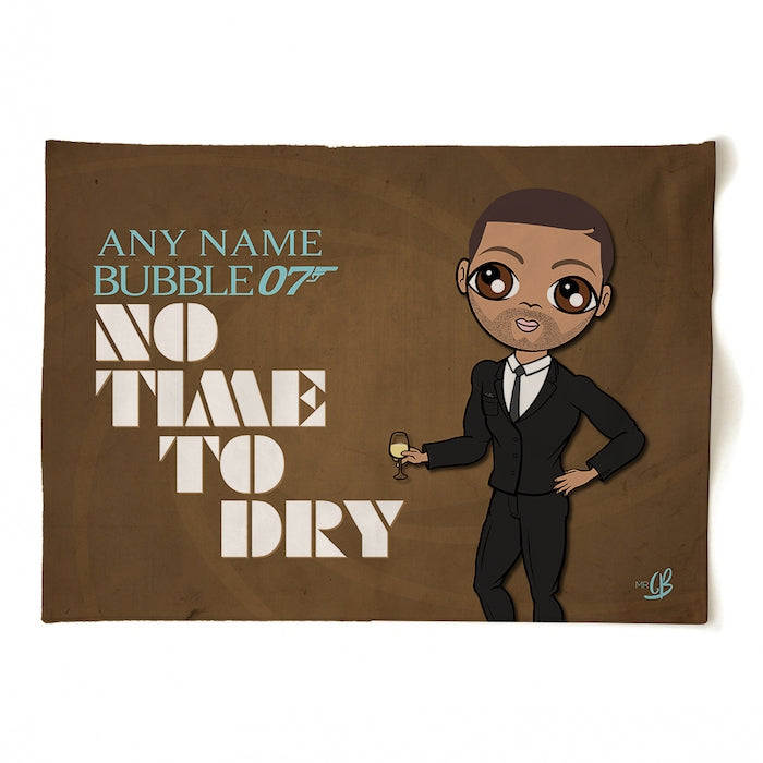 MrCB Personalised No Time To Dry Tea Towel - Image 2