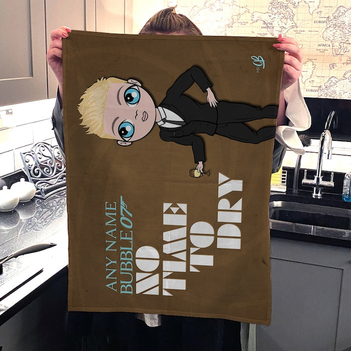 MrCB Personalised No Time To Dry Tea Towel - Image 4