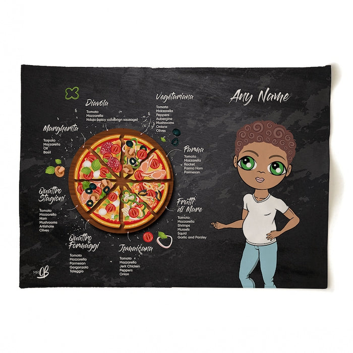 MrCB Personalised Pizza Selection Tea Towel - Image 1