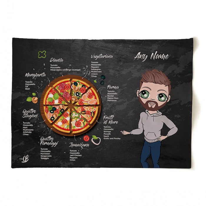 MrCB Personalised Pizza Selection Tea Towel - Image 4
