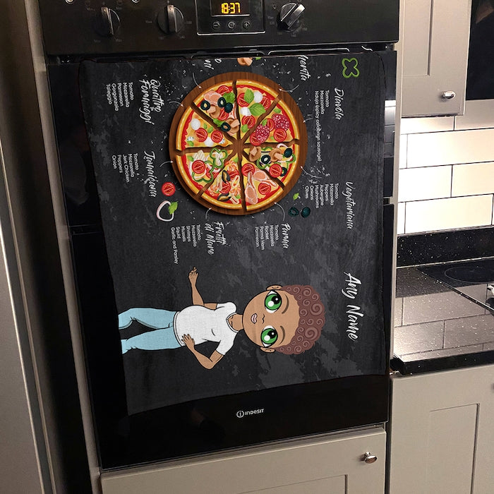 MrCB Personalised Pizza Selection Tea Towel - Image 3