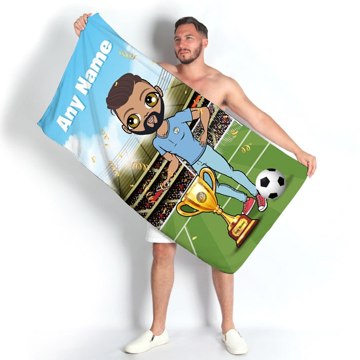 MrCB Football Champ Beach Towel - Image 1