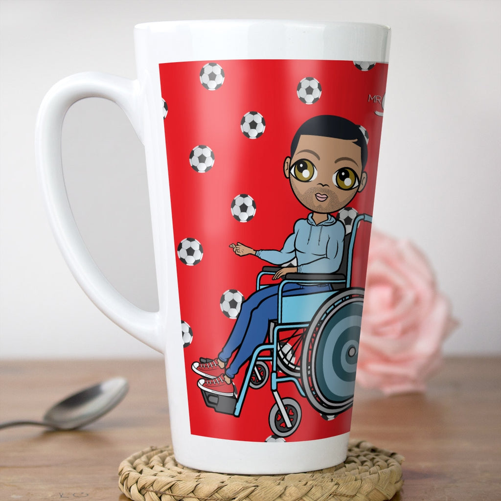 MrCB Wheelchair Football Print Latte Mug - Image 1