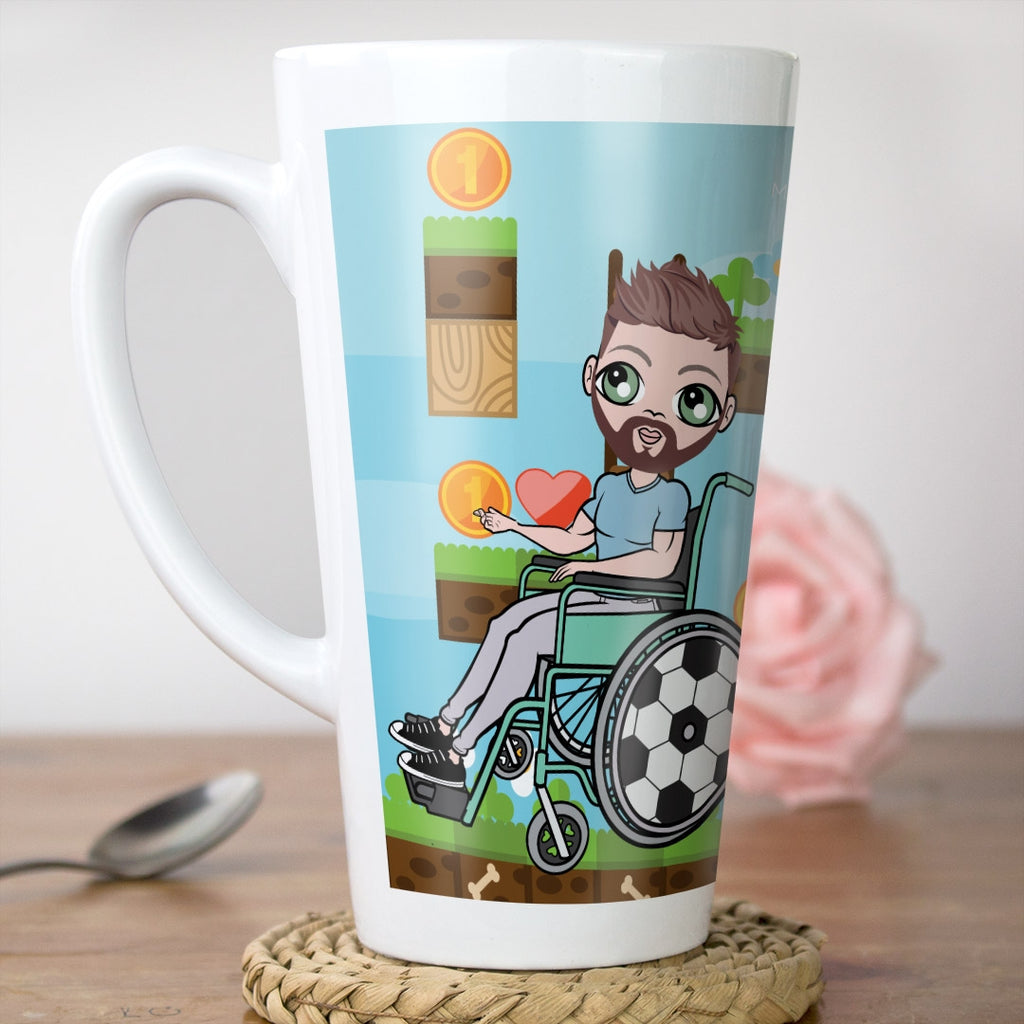 MrCB Wheelchair Gamer Latte Mug - Image 1