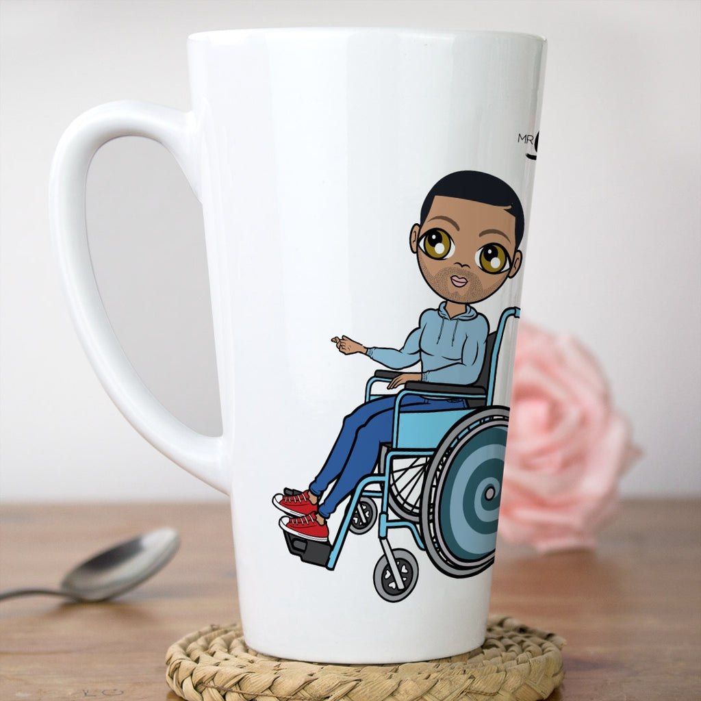 MrCB Wheelchair White Latte Mug - Image 1
