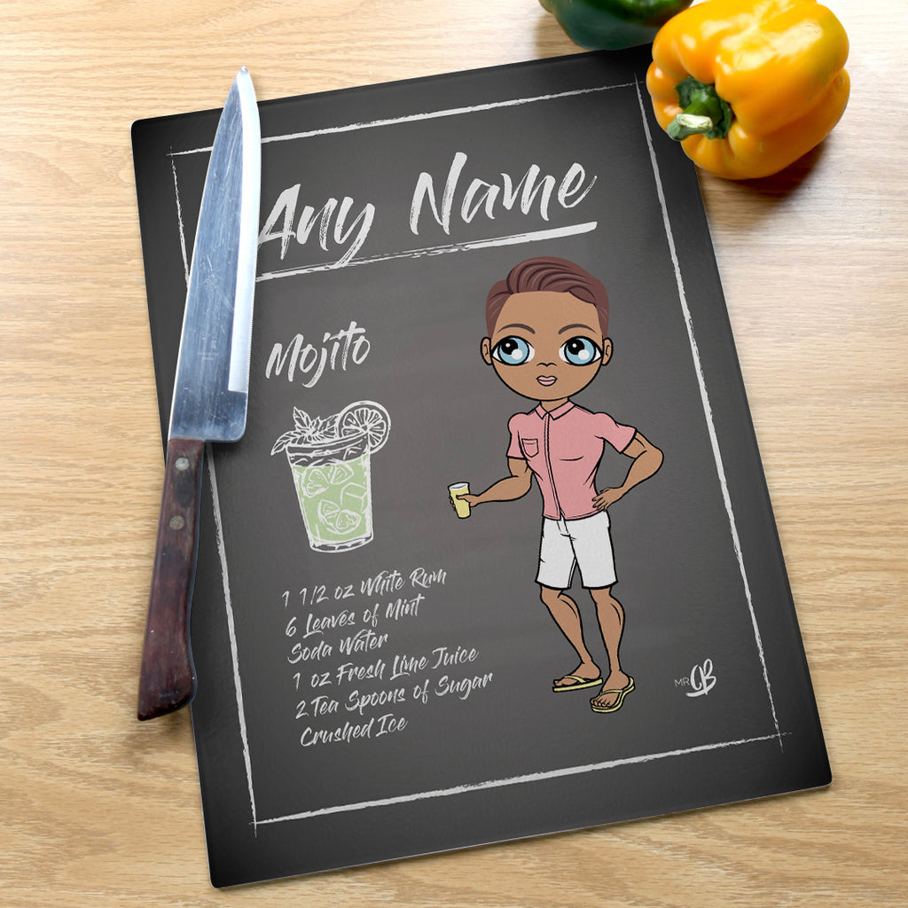 MrCB Glass Chopping Board - Mojito Recipe