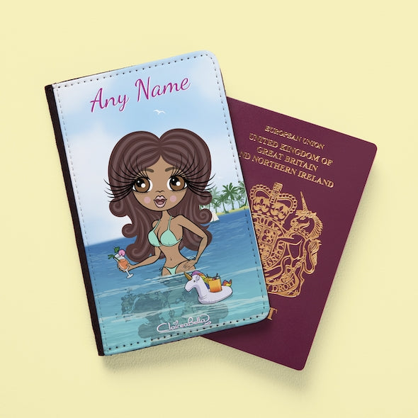 ClaireaBella Seaside Cocktails Passport Cover - Image 1