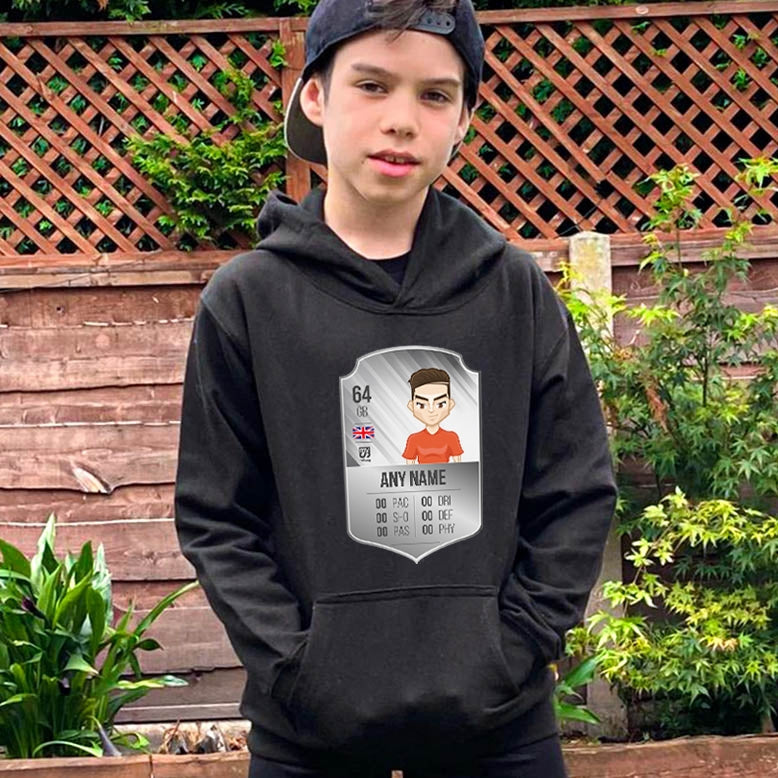 MySwag Boys Player Stats Shield Hoodie - Image 4