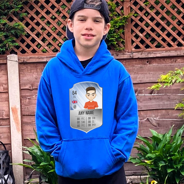 MySwag Boys Player Stats Shield Hoodie - Image 2