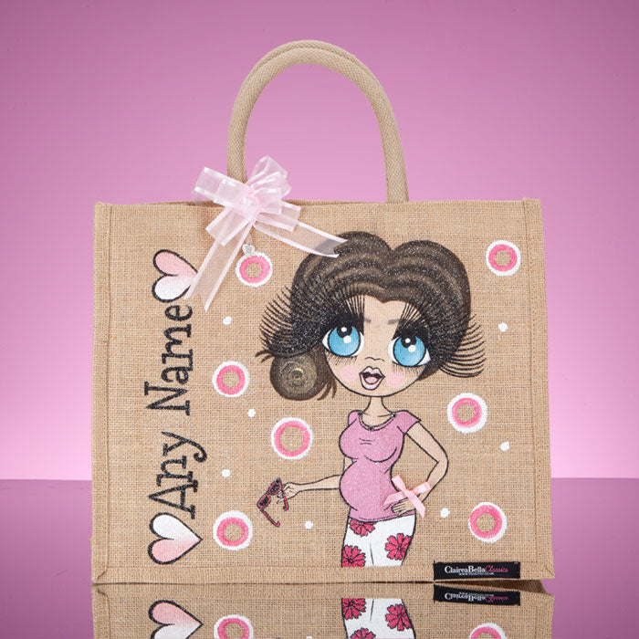 ClaireaBella Large Mum To Be Jute Bag - Image 5
