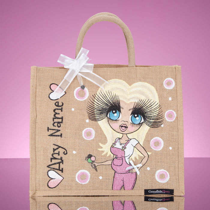 ClaireaBella Large Mum To Be Jute Bag - Image 1
