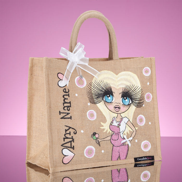 ClaireaBella Large Mum To Be Jute Bag - Image 2