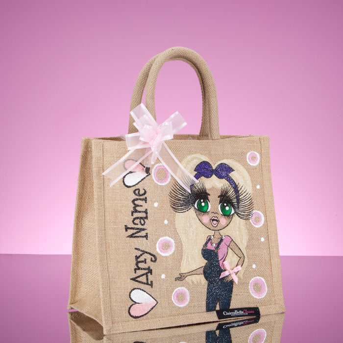 ClaireaBella Medium Mum To Be Jute Bag - Image 4